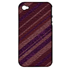 Stripes Course Texture Background Apple Iphone 4/4s Hardshell Case (pc+silicone)