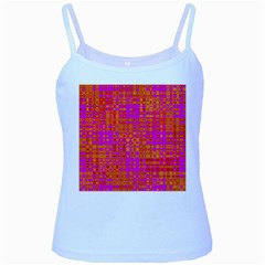 Pink Orange Bright Abstract Baby Blue Spaghetti Tank