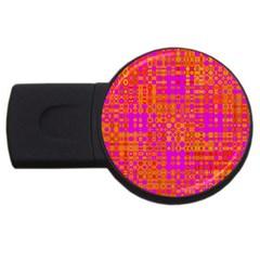 Pink Orange Bright Abstract Usb Flash Drive Round (4 Gb) by Nexatart