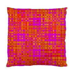 Pink Orange Bright Abstract Standard Cushion Case (one Side)
