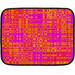 Pink Orange Bright Abstract Fleece Blanket (mini) by Nexatart