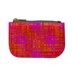 Pink Orange Bright Abstract Mini Coin Purses