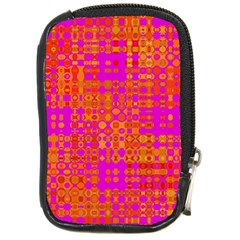 Pink Orange Bright Abstract Compact Camera Cases by Nexatart