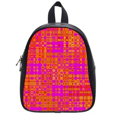 Pink Orange Bright Abstract School Bags (small)  by Nexatart