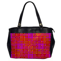 Pink Orange Bright Abstract Office Handbags by Nexatart