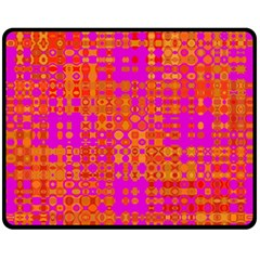 Pink Orange Bright Abstract Fleece Blanket (medium)  by Nexatart