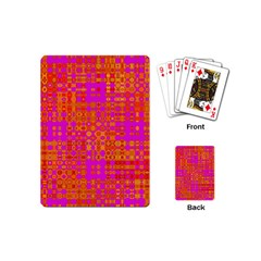 Pink Orange Bright Abstract Playing Cards (mini)  by Nexatart