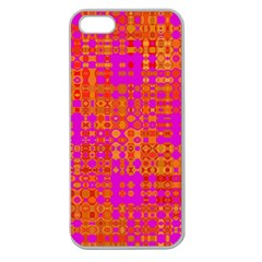 Pink Orange Bright Abstract Apple Seamless Iphone 5 Case (clear)