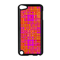 Pink Orange Bright Abstract Apple Ipod Touch 5 Case (black) by Nexatart