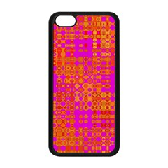 Pink Orange Bright Abstract Apple Iphone 5c Seamless Case (black)
