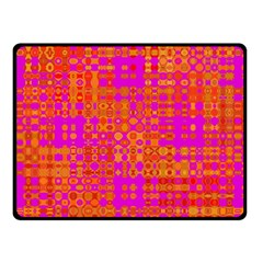Pink Orange Bright Abstract Double Sided Fleece Blanket (small)