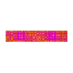 Pink Orange Bright Abstract Flano Scarf (mini)
