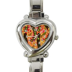 Abstract Background Digital Green Heart Italian Charm Watch by Nexatart