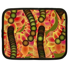 Abstract Background Digital Green Netbook Case (large) by Nexatart