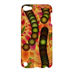 Abstract Background Digital Green Apple Ipod Touch 5 Hardshell Case by Nexatart