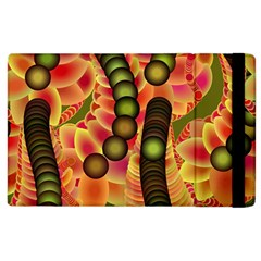 Abstract Background Digital Green Apple Ipad 3/4 Flip Case by Nexatart
