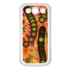 Abstract Background Digital Green Samsung Galaxy S3 Back Case (white)