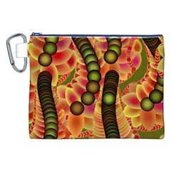 Abstract Background Digital Green Canvas Cosmetic Bag (xxl) by Nexatart