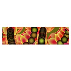 Abstract Background Digital Green Satin Scarf (oblong)