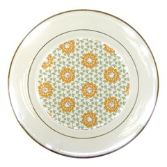 Stamping Pattern Fashion Background Porcelain Plates by Nexatart