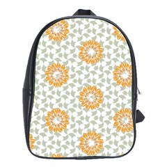 Stamping Pattern Fashion Background School Bags(large)  by Nexatart