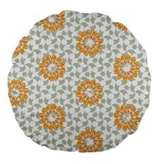 Stamping Pattern Fashion Background Large 18  Premium Round Cushions by Nexatart