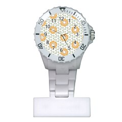 Stamping Pattern Fashion Background Plastic Nurses Watch