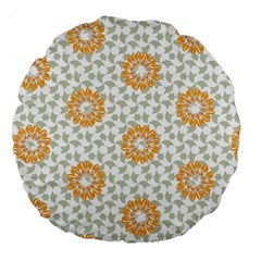 Stamping Pattern Fashion Background Large 18  Premium Flano Round Cushions by Nexatart