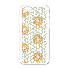 Stamping Pattern Fashion Background Apple Iphone 6/6s White Enamel Case by Nexatart