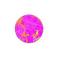 Spring Tropical Floral Palm Bird Golf Ball Marker (4 Pack)