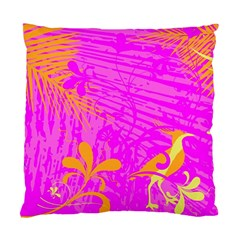 Spring Tropical Floral Palm Bird Standard Cushion Case (one Side) by Nexatart