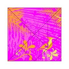 Spring Tropical Floral Palm Bird Acrylic Tangram Puzzle (6  X 6 )