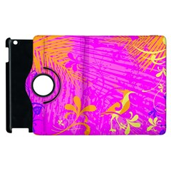 Spring Tropical Floral Palm Bird Apple Ipad 2 Flip 360 Case by Nexatart