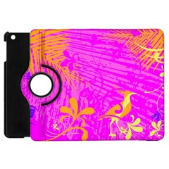 Spring Tropical Floral Palm Bird Apple Ipad Mini Flip 360 Case by Nexatart