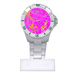 Spring Tropical Floral Palm Bird Plastic Nurses Watch