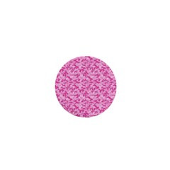 Shocking Pink Camouflage Pattern 1  Mini Buttons by tarastyle