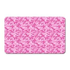 Shocking Pink Camouflage Pattern Magnet (rectangular) by tarastyle