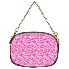 Shocking Pink Camouflage Pattern Chain Purses (two Sides)  by tarastyle