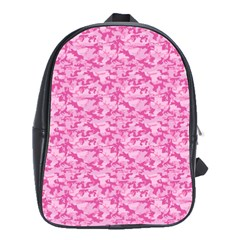 Shocking Pink Camouflage Pattern School Bags(large)
