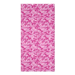 Shocking Pink Camouflage Pattern Shower Curtain 36  X 72  (stall)