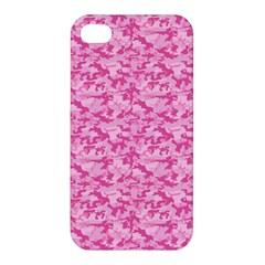 Shocking Pink Camouflage Pattern Apple Iphone 4/4s Premium Hardshell Case