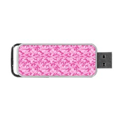 Shocking Pink Camouflage Pattern Portable Usb Flash (two Sides) by tarastyle