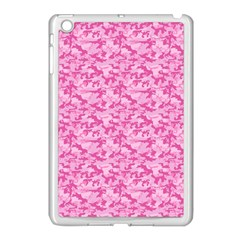 Shocking Pink Camouflage Pattern Apple Ipad Mini Case (white)