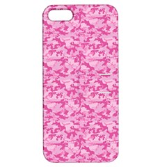 Shocking Pink Camouflage Pattern Apple Iphone 5 Hardshell Case With Stand