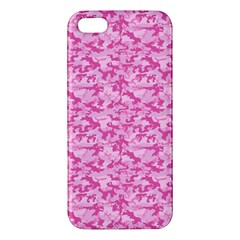 Shocking Pink Camouflage Pattern Apple Iphone 5 Premium Hardshell Case by tarastyle