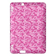 Shocking Pink Camouflage Pattern Kindle Fire Hdx Hardshell Case by tarastyle