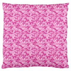 Shocking Pink Camouflage Pattern Standard Flano Cushion Case (one Side)
