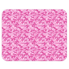 Shocking Pink Camouflage Pattern Double Sided Flano Blanket (medium)