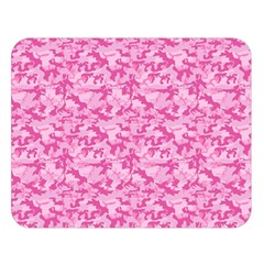 Shocking Pink Camouflage Pattern Double Sided Flano Blanket (large)