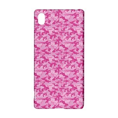 Shocking Pink Camouflage Pattern Sony Xperia Z3+
